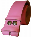 50mm Pink Snap Fit Leather Belt
